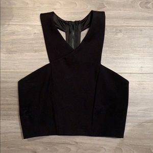 Express black cropped top